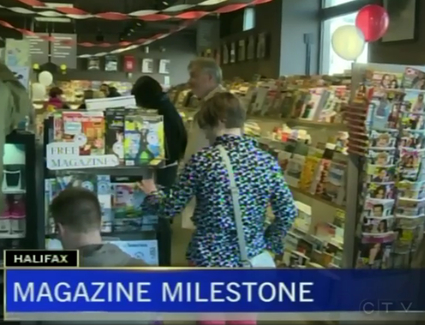 CTV News video report from Atlantic News 40th party