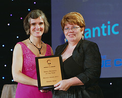 Michele Gerard (store owner) receiving the Halifax Small Business Bronze Award 2011
